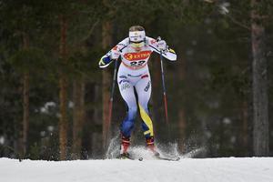 Stina Nilsson, åter med och sexa i kvalet.