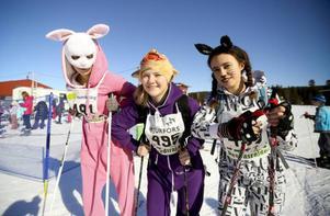 För Saga Viljeståhl, Magdalena Arvidsson och Julia Prestberg, årskurs sju i Mörsils skola, vill skoja till det och tävlar därför i förklädnad.