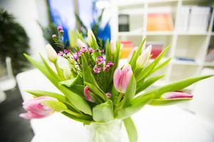 Alltid färska blommor.