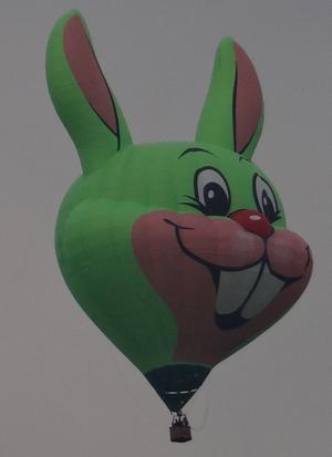 En stor, gullig kanin dök upp i skyn. Troligen för att beskåda Västerås från ovan. Vilken fantastisk utsikt över Västerås stolthet - Power Meet - de fick. Man blir lite avundsjuk. Vi och några släktingar njöt där vi stod på vår gräsmatta på lördagskvällen.