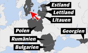 Stöldligorna kommer bland annat från Litauen, Estland, Lettland, Polen, Rumänien, Bulgarien och Georgien.