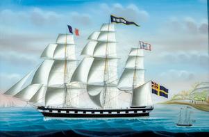 """Fullriggaren """"Superior"""" byggdes 1848 av Lars Bång för Elfbrink & Luth och var då Gävles största fartyg."""