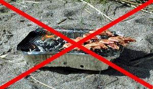 Under eldninsgförbudet får man inte använda engångsgrillar.
