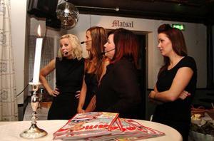 Jenny Claesson, Pauline Davidsson och ägaren Stina Davis från Åresaxen, var lite nervösa i början, men allt gick galant.