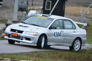 Jocke Halvarsson var snabbast i den fyrhjulsdrivna klassen både lördag och söndag.