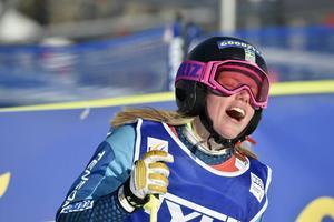 Sandra Näslund var inte helt nöjd över mållinjen med en andra plats.