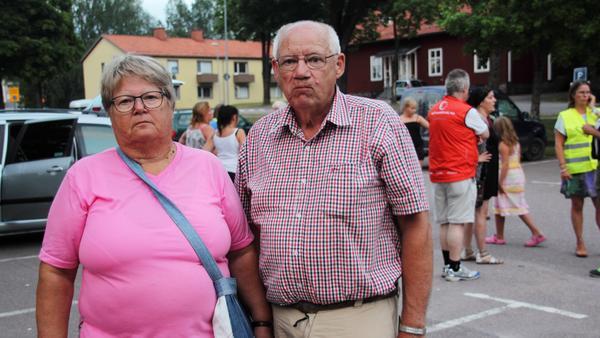 Anita och Lars Lilja som blev tvungna att lämna sitt hus i Bondfallet.
