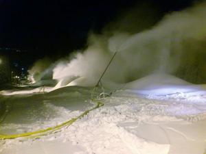 Bild från nattpasset i Badhusbacken.