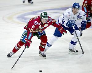 Erik Karlsson, Frölundaforward, i en match mot Leksand.