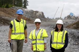 Peter Sartorius från kommunen har ett gott samarbete med Christina Eklööf och Rebecca Wennersten från Trafikverket.