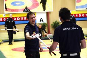 Viktor Kjäll genomförde matchen med ett leende på läpparna.