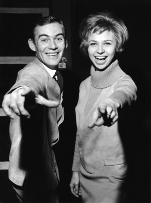 Gunnar Wiklund och Anita Lindblom repeterar på Casinoteatern i Stockholm i början av 1960-talet.