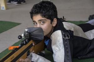 Ununge Skytteförenings Hazem Bdair, 12 år från Edsbro, kom trea i klass 13.