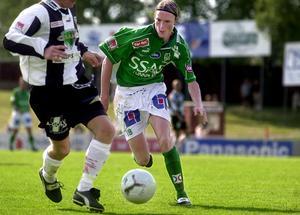 Lasse Nilsson under sin senaste säsong med IK Brage, 2001.