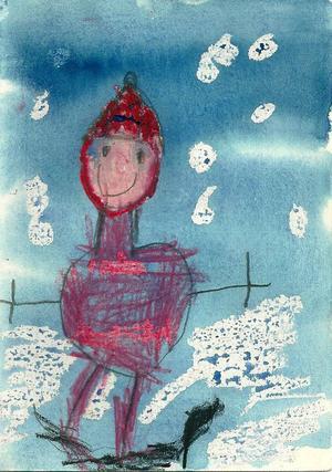 Första pris 0-6 år: László Fogarasi, 6 år, Låsböle, Hallen.
