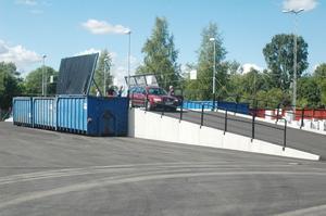 Edsbyns nya återvinningsstation invigdes på torsdagen.