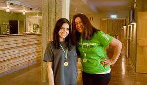 Emma Emet och Ann-Sofie Fryxell har varit handledare och mentorer för de unga förmågorna.