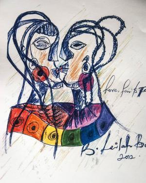 Det är mest utlänningar som köper Leilahs konst, i de ugandiska konstsammanhangen är hon sällan välkommen.
