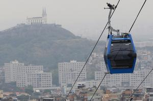I Rio de Janeiro i Brasilien används i dag linbanor.