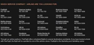 På Flexflights hemsida finns informationen som kan få en att tro att Avies är en av bolagets underleverantörer. Men så är inte fallet, enligt Flexflights svenska kontaktperson.