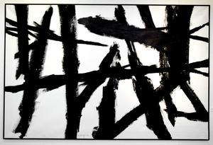 Utan titel. Svarta streck – en ovanligt expressiv Hedenström.