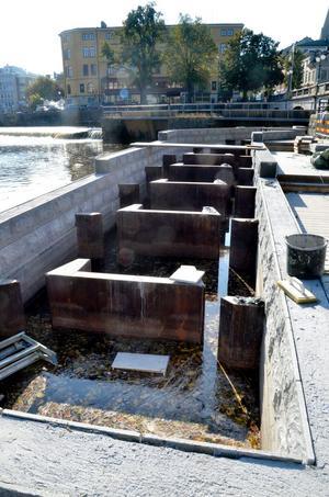 Fina fisken. Inom kort ska fisktrappan i Svartån vara klar.