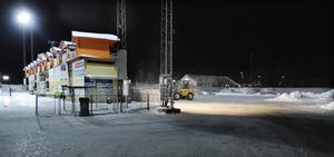 Den nuvarande bandyplanen till vänster ska användas av fotbollen enligt förslaget. Den nya bandyhallen byggs på den andra sidan av sponsorernas
