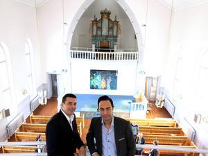 Mike Markarian och Shawn Afshari satsar 4,5 miljoner kronor för att förvandla kyrkan till restaurang.