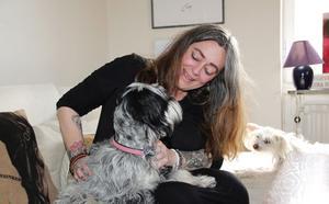 Att hunden Fia kom in i Annika Kilmarks liv tackar hon Daniel för.