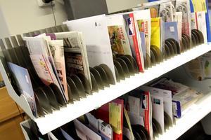 """Sortering.  När posten """"kammas""""–sorteras in i facken–blir det många monotona rörelser som gör att brevbärarna riskerar få belastnings-skador."""
