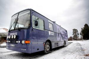 Den gamla bokbussen från 1995 har snart rullat 40 000 mil.