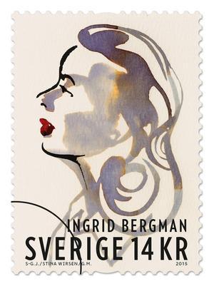 De svenska frimärkena har formgivits av Gustav Mårtensson. Förlagor är ett porträttfotografi av Laszlo Willinger, och en akvarell av Stina Wirsén efter foton av Sven-Gösta Johansson. Lars Sjööblom graverade Willinger-porträttet.