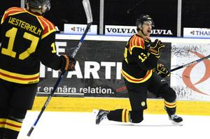 Mikael Karlbergs, en av Leksands sportchefer, scoutade Sondre Olden i helgen.