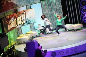 Xbox Briefing: Vilt spelande. Det gick vilt till när Microsoft premiärvisade spelkameran Kinect, tidigare Project Natal. Här demonstreras det kontrollösa spelet