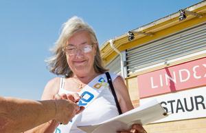 Eva Norgren, från PRO Söderala/Marma, fick många att skriva på namninsamlingen.