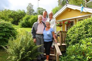 Arne Eriksson, Yvonne Bergman, Sune Bergman och Berit Eriksson mötte upp oss när Arbetarbladet kom till Fagersta.