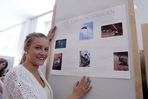 Sara Sunnefeldt, naturvetenskapsprogrammet, passade på att göra sitt projektarbete under en resa till Australien. – Det finns en massa arter som bara finns i Australien, det var det jag ville visa, säger hon.