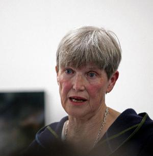 Gunilla Johansson berättade med inlevelse om Stina Aronson och fann att hennes tid i Jämtland sannolikt var avgörande för författarskapet.