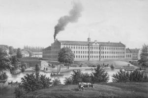 Gävle Manufaktur i Strömsbro, en mönsterfabrik när den byggdes 1849.