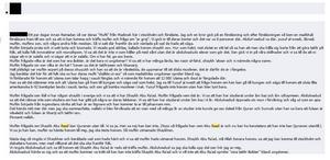 Skärmdump av inlägget där Abo Raad beskrivs som den militanta islamismens ideolog i Sverige.