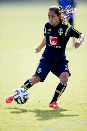 Malin Diaz, 21, Eskilstuna United, har tidigare spelat för både Tyresö och AIK i damallsvenskan. Hon har kallats ett av Sveriges största framtidshopp.