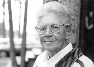 Berta Hansson på äldre dagar.