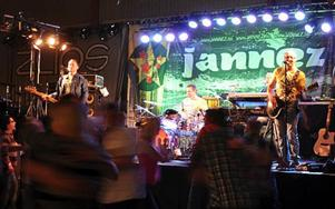 Jannez på scen i lördags.Foto: Monica Bergström