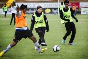 En av eleverna från Storsjögymnasiet som ledde träningen var Anna Danielsson Koivula.