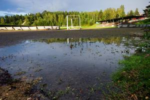 Kopparvallen - klassisk fotbollsarena i Falun.
