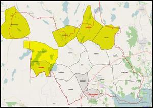 Här i områdena norr om Köpings tätort har projektet i dag samlat 90 procent av de fasta hushållen.