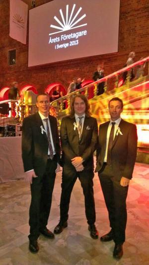 Bröderna som driver Vallsta skogsmaskiner tog sig ända till Stockholms stadshus, men blev inte årets företagare i Sverige.