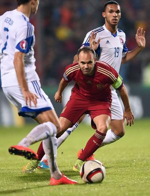 Andrés Iniesta, Barcelona. Luxemburg–Spanien, EM-kval 12 oktober 2014, 0–4.         Gerson om Iniesta:
