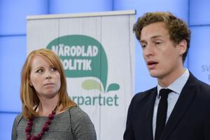 Centerpartiets partiledare Annie Lööf och ekonomisk-politiske talespersonen Emil Källström.
