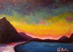 I Persåsen visar Ingrid Roth målningar med inspiration från hennes resor till Svalbard.